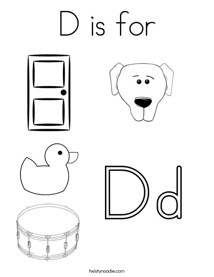 letter d coloring pages d is for coloring page