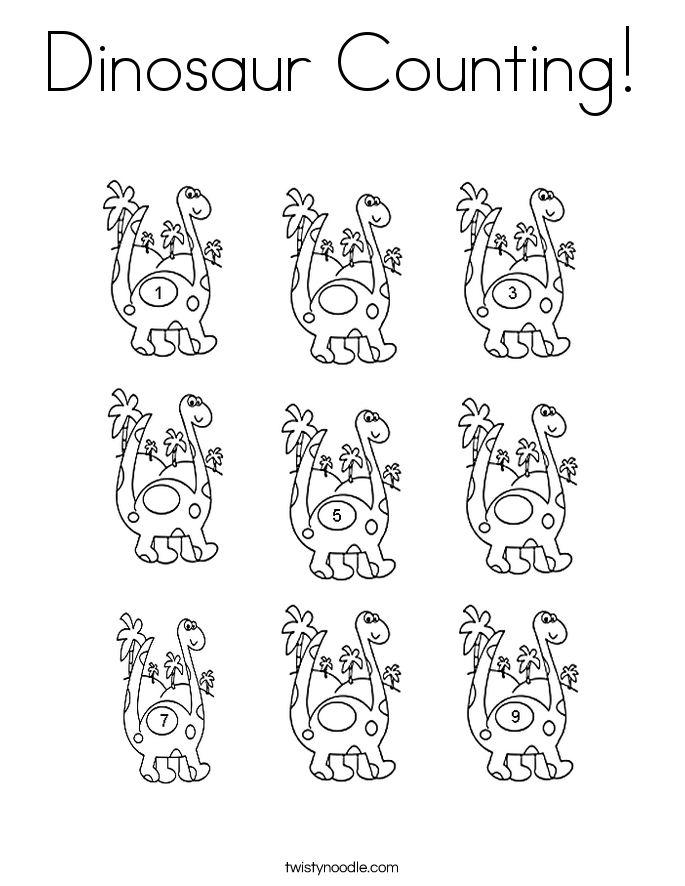 counting coloring pages twisty noodle