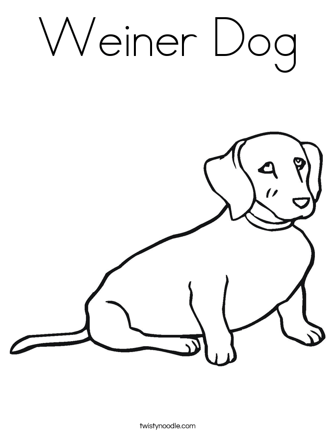 weiner dog coloring page twisty noodle