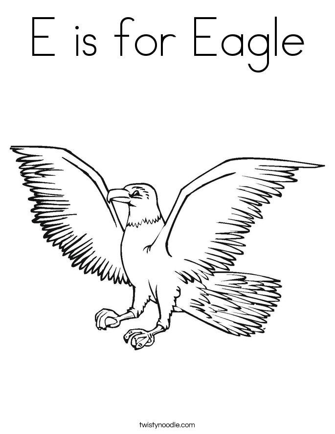 eagle coloring page twisty noodle