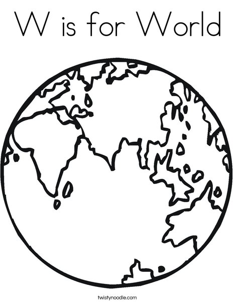 world coloring page # 3