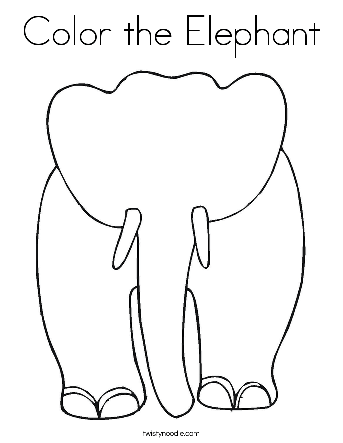 color the elephant coloring page twisty noodle
