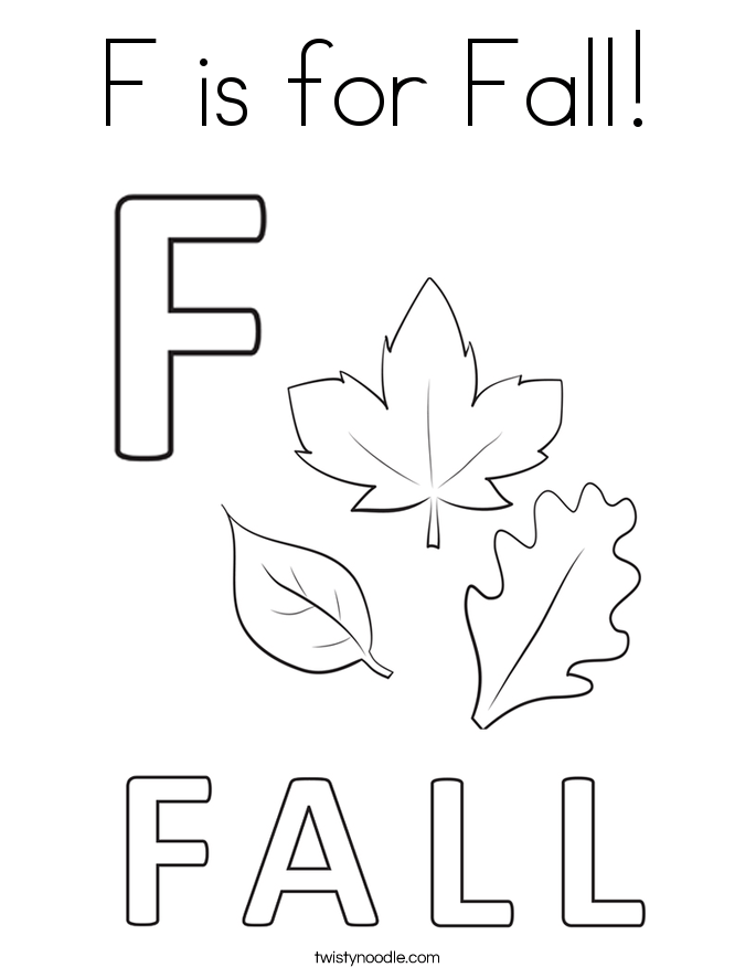 is for fall coloring page