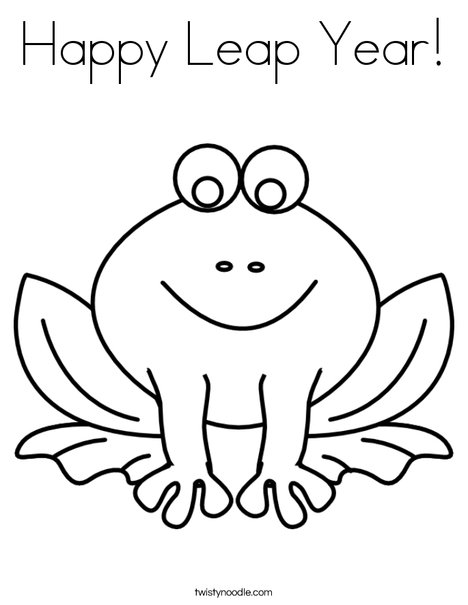 happy leap year coloring page twisty noodle