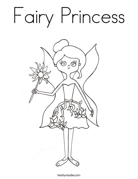 fairy princess coloring pages # 7
