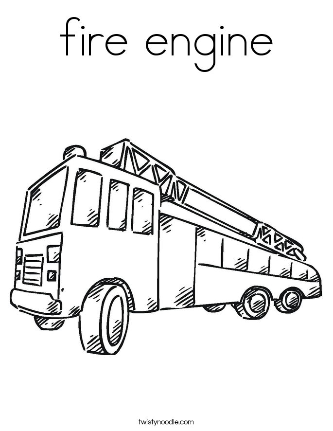 fire engine coloring page twisty noodle
