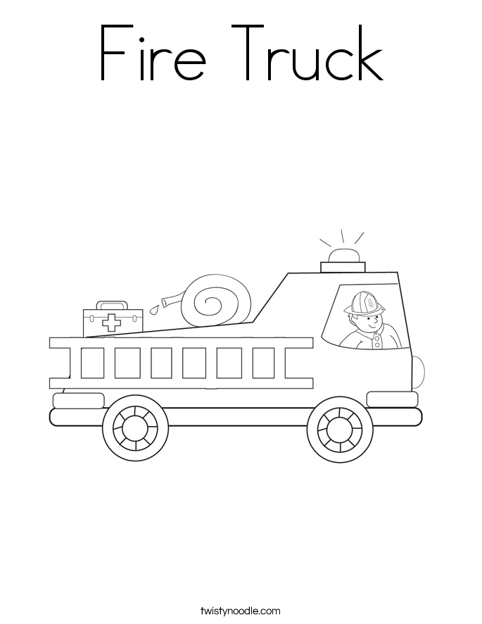fire truck coloring page twisty noodle