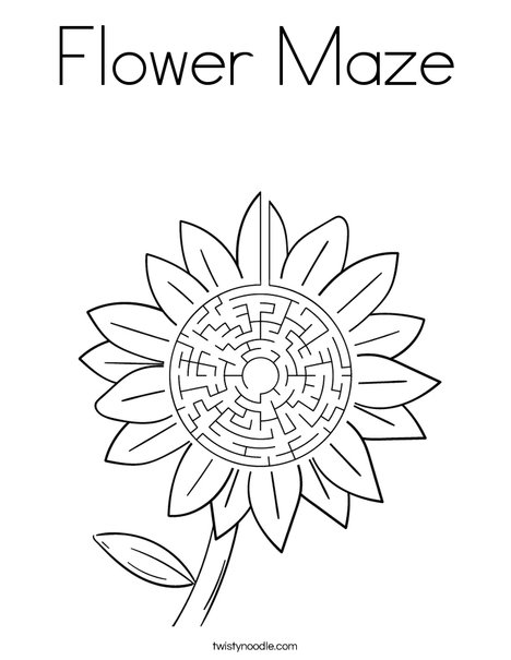 maze coloring pages # 26