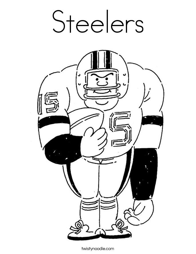 steelers coloring page  twisty noodle