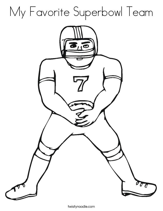 my favorite superbowl team coloring page twisty noodle