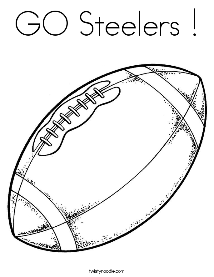 go steelers coloring page twisty noodle