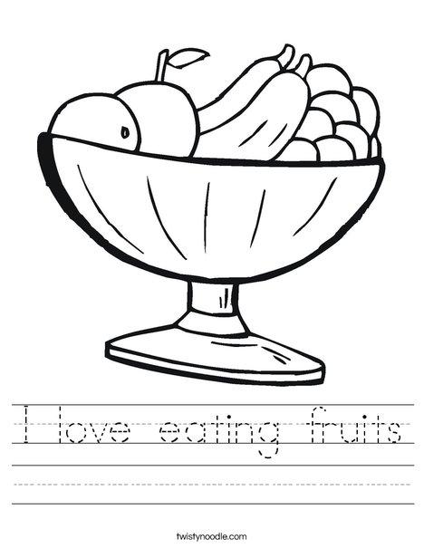 love eating fruits worksheet twisty noodle