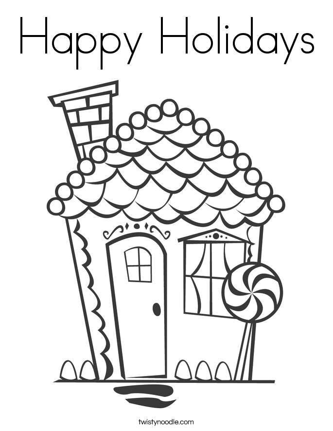 happy holidays coloring page twisty noodle