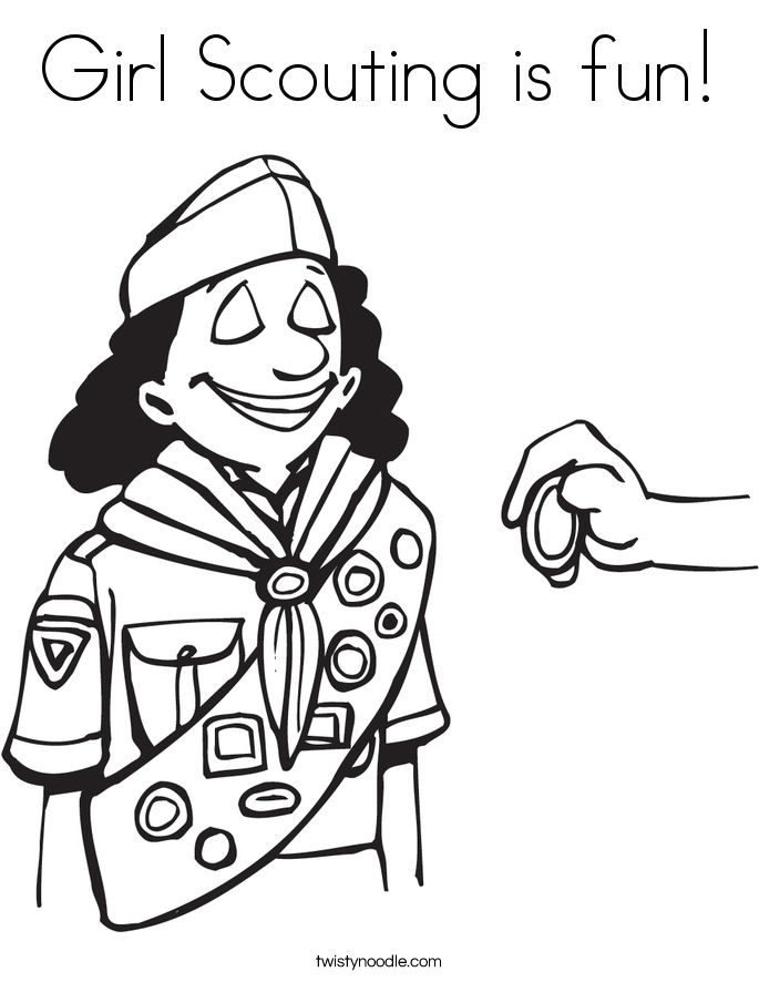 girl scouting is fun coloring page twisty noodle