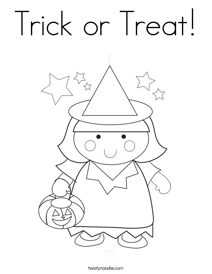 trick or treat coloring page  twisty noodle