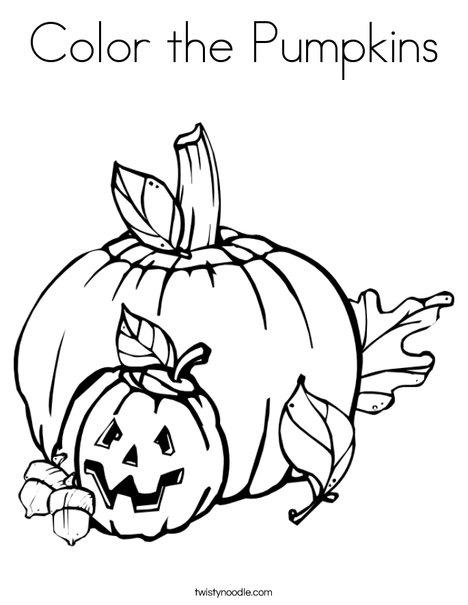 Color The Pumpkins Coloring Page Twisty Noodle