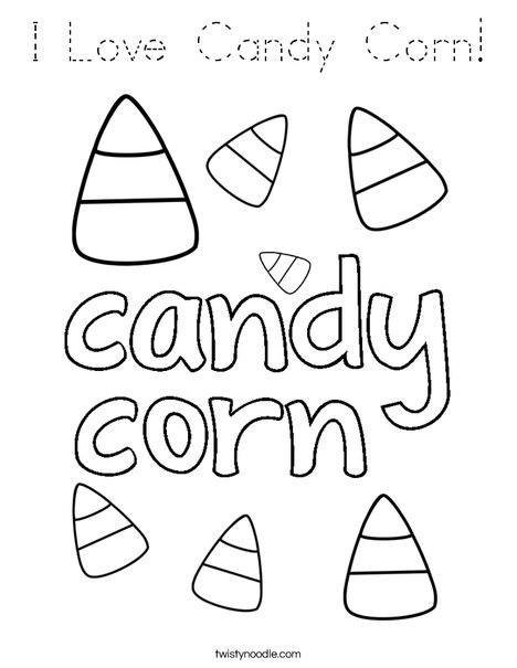 i love candy corn coloring page  tracing  twisty noodle