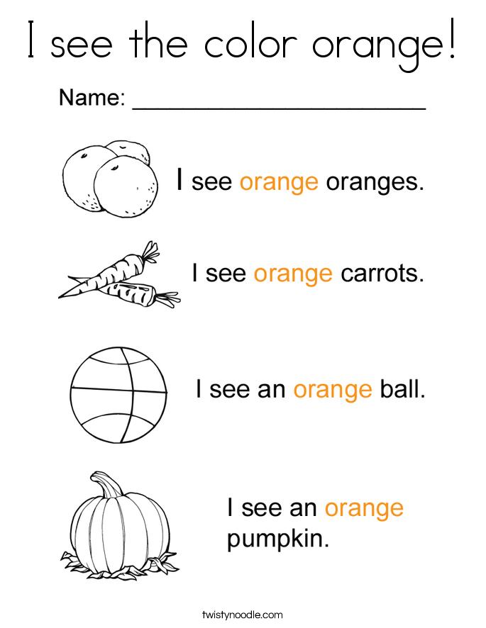 orange coloring pages twisty noodle