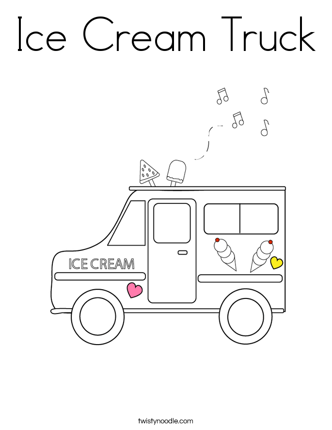 ice cream truck coloring page twisty noodle