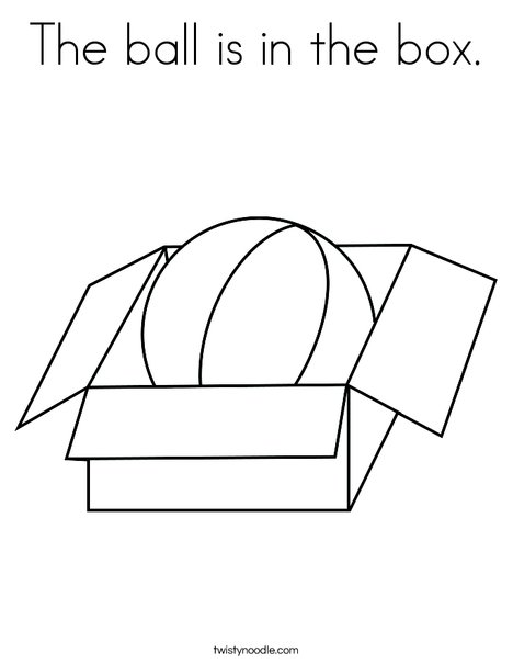 the ball is in the box coloring page twisty noodle