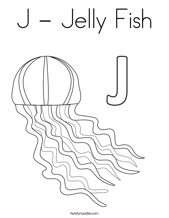 jelly fish coloring page twisty noodle