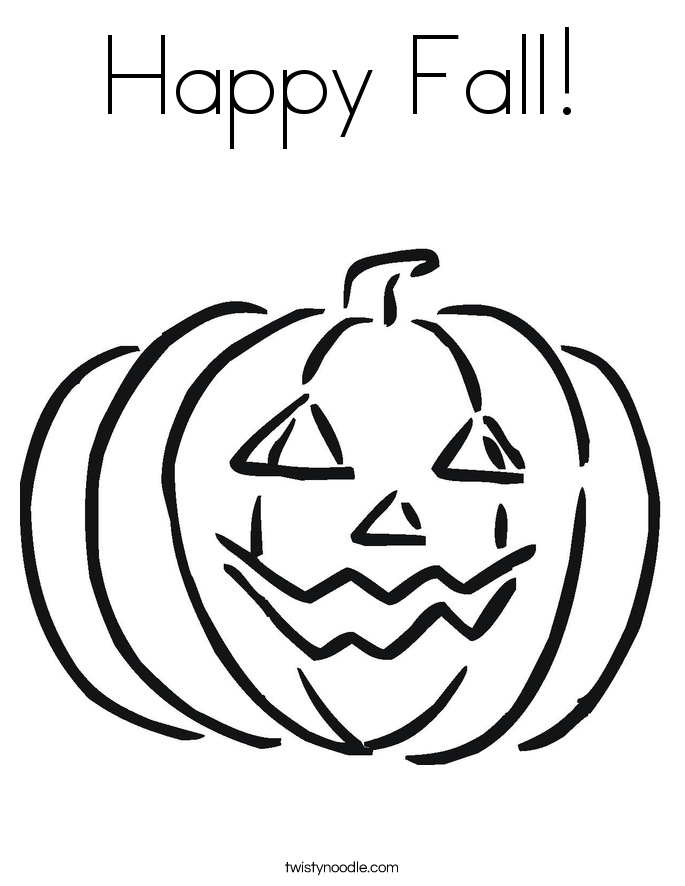 happy fall coloring page twisty noodle