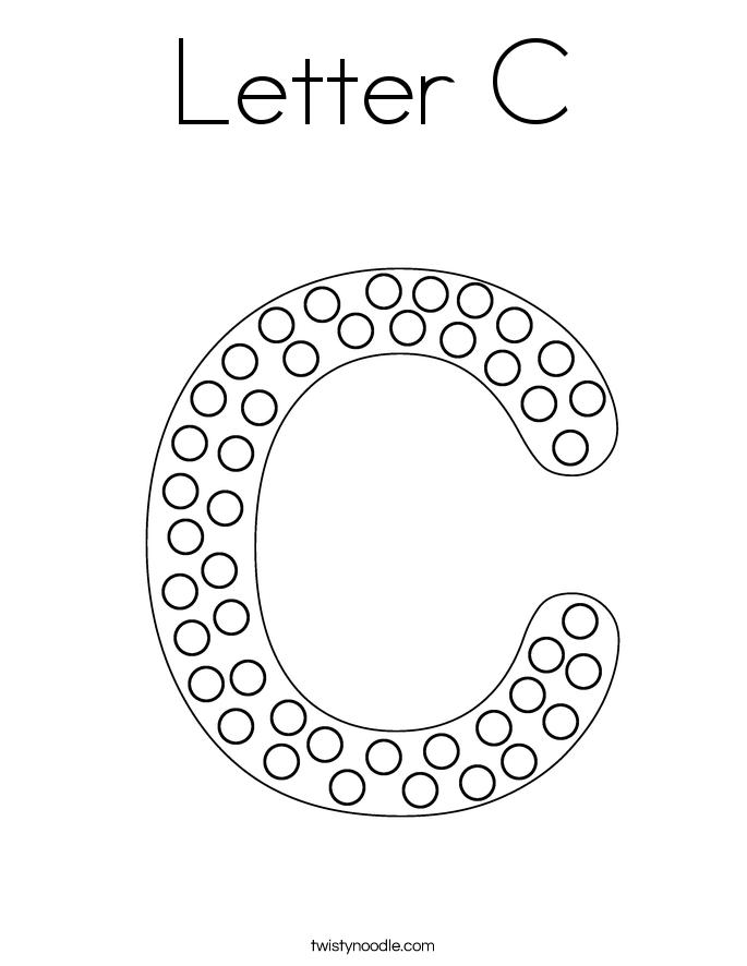 letter c coloring pages twisty noodle