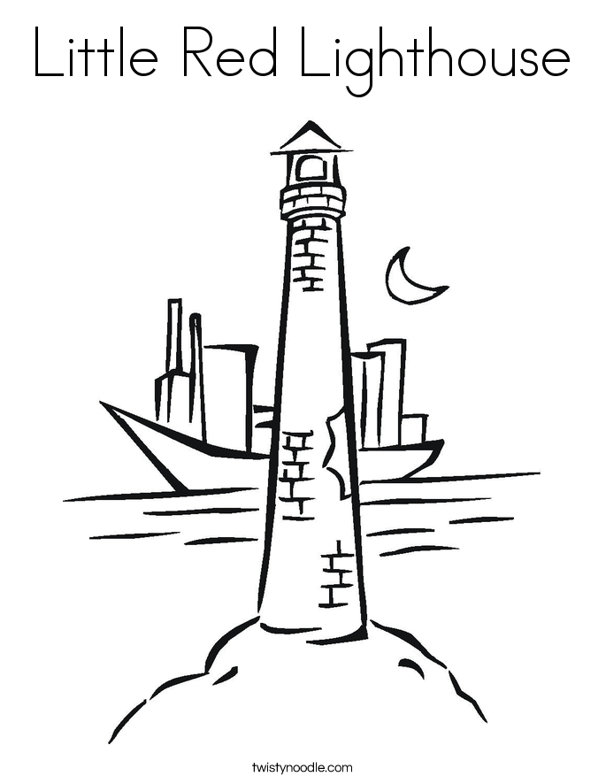 little red lighthouse coloring page twisty noodle