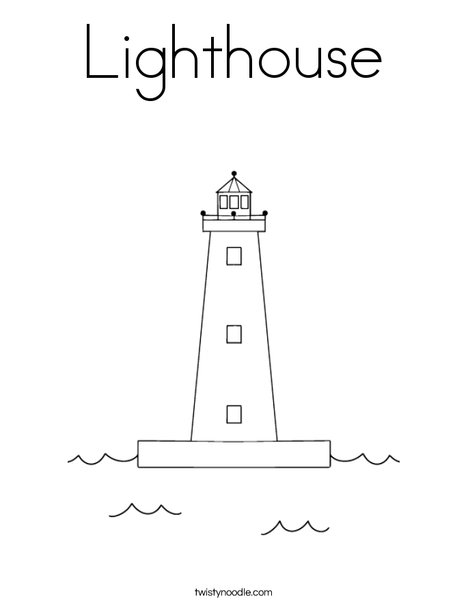 lighthouse coloring page twisty noodle