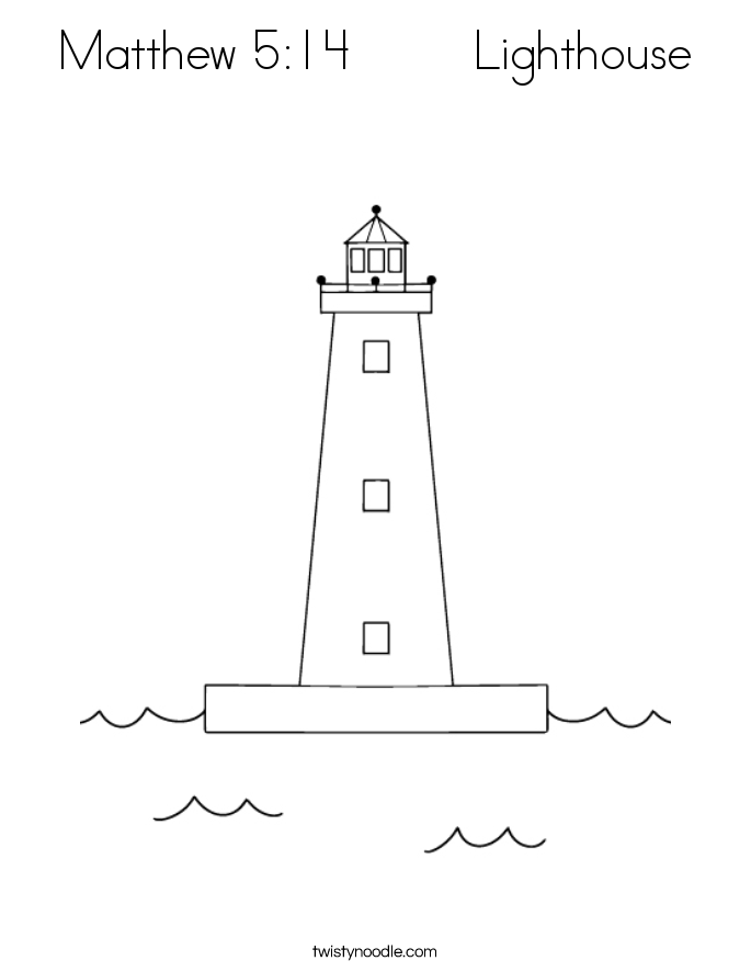 matthew 5 14 lighthouse coloring page twisty noodle