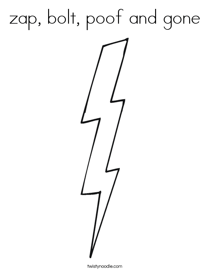 zap bolt poof and gone coloring page twisty noodle