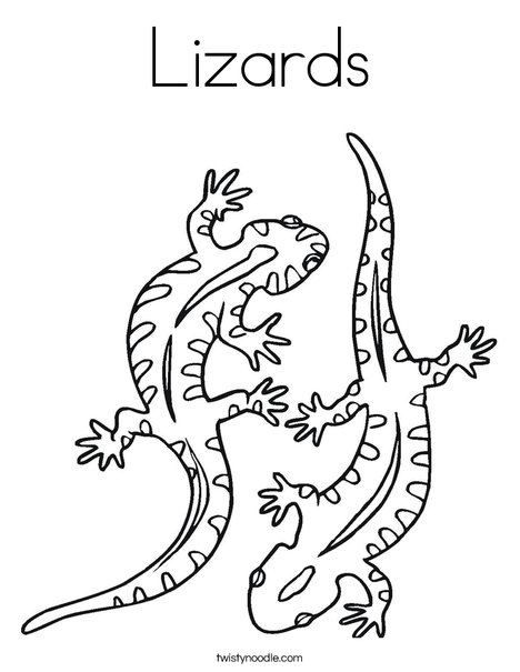 lizard coloring page # 4