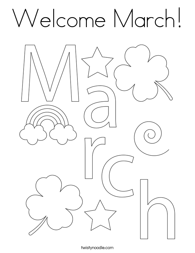 welcome march coloring page twisty noodle