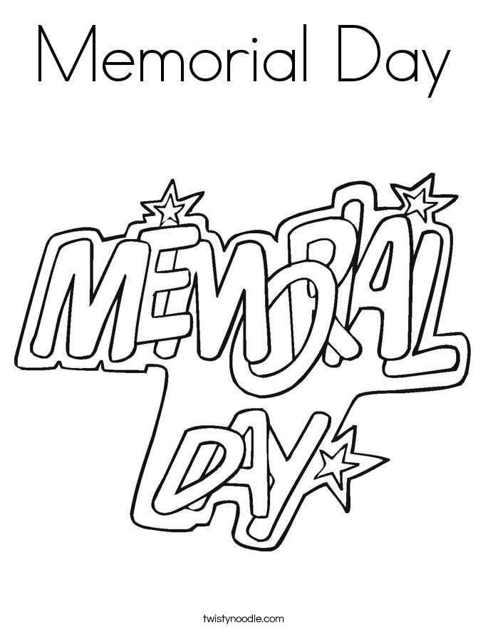memorial day coloring page twisty noodle