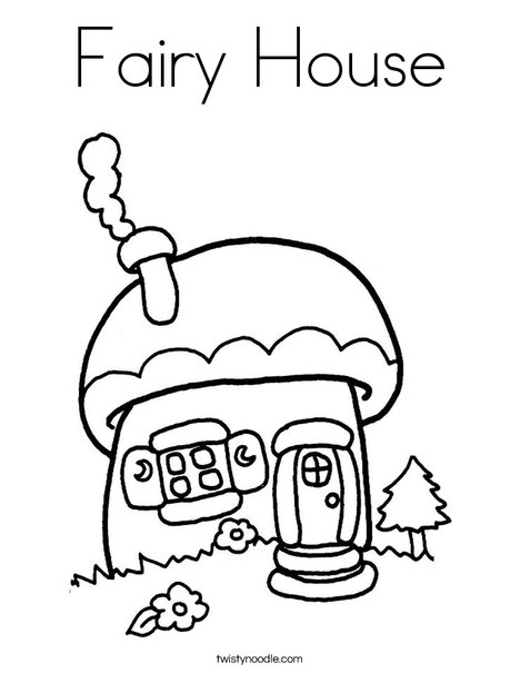 fairy house coloring page  twisty noodle