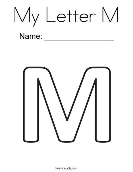 letter m coloring page # 1