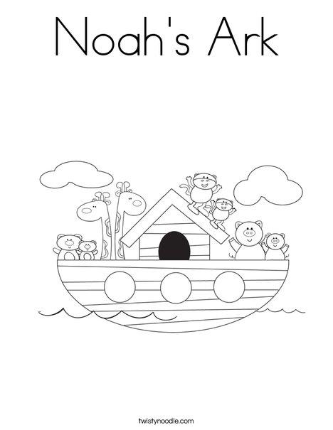 Noah S Ark Coloring Page Twisty Noodle