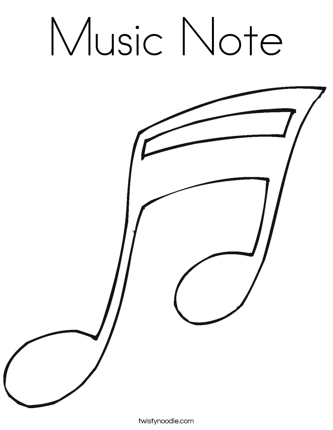music note coloring page twisty noodle