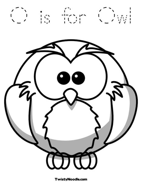 hard owl coloring pages o is for owl coloring page