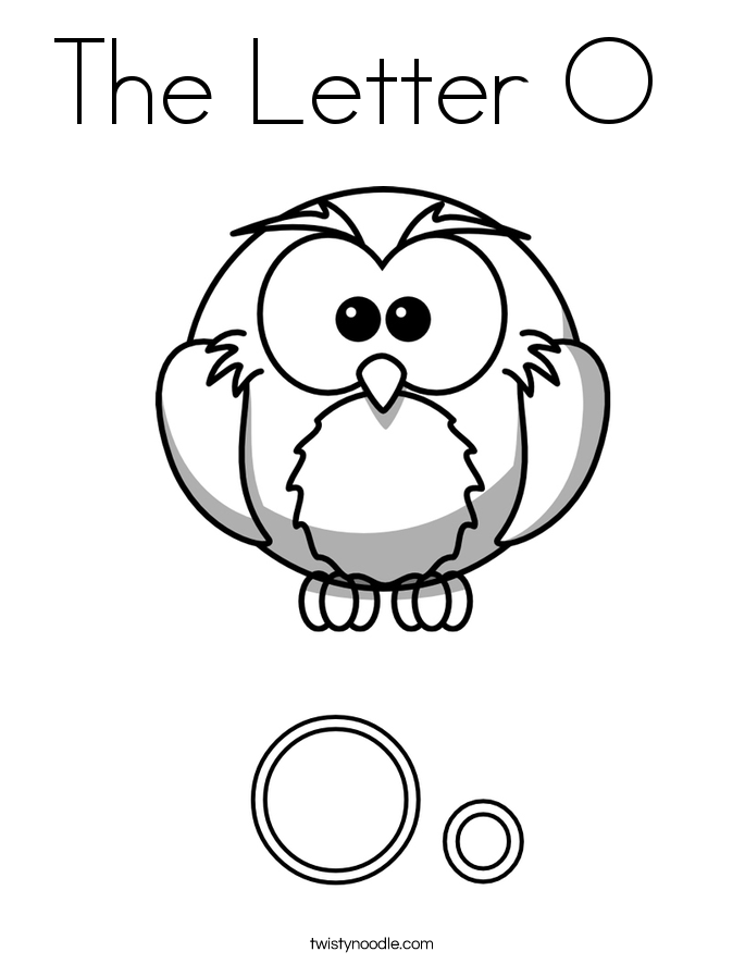 letter o coloring pages twisty noodle