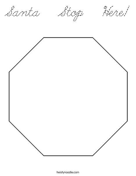 octagon stop sign coloring page coloring pages