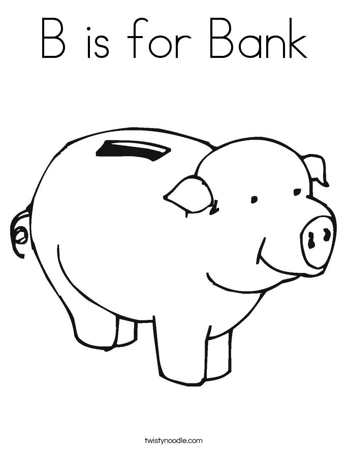 piggy bank coloring page twisty noodle