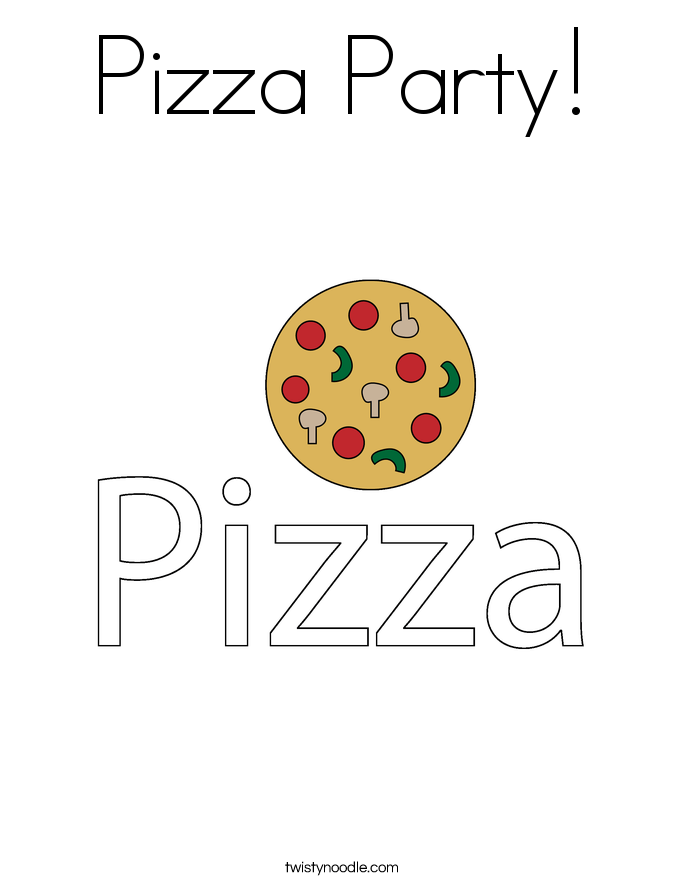 pizza party coloring page pizza party coloring page