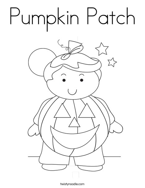pumpkin patch coloring page  twisty noodle