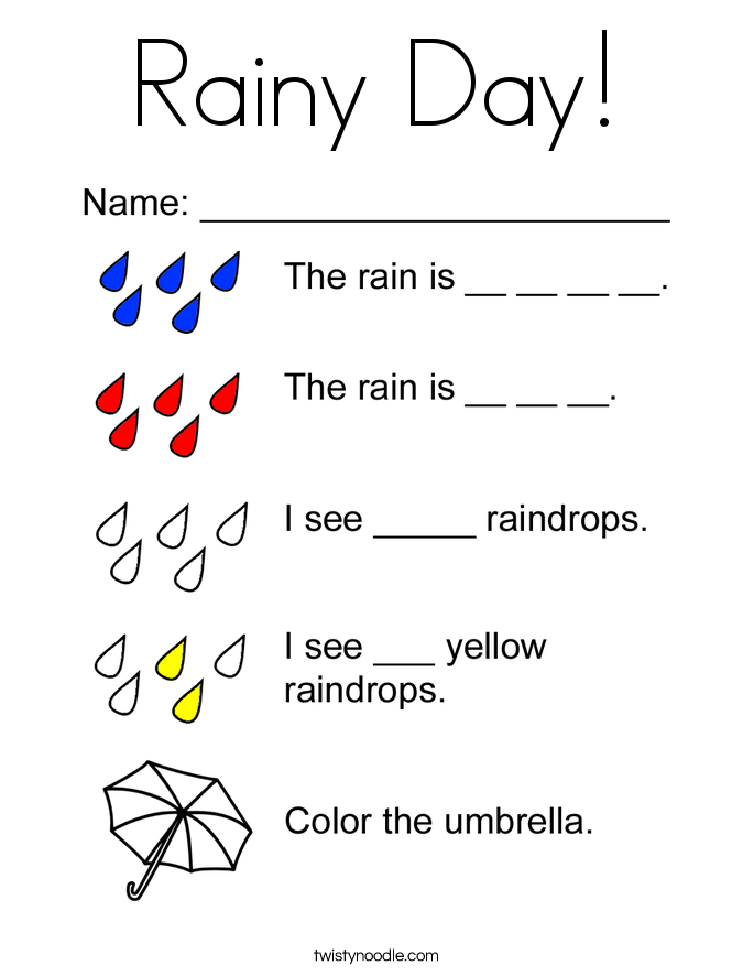 color the raindrops coloring page twisty noodle