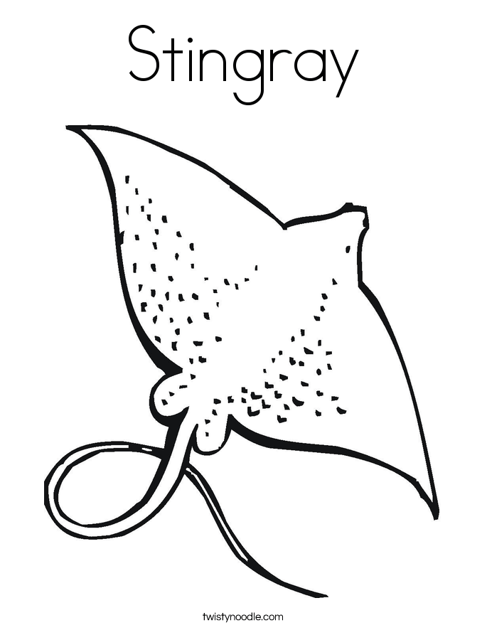 Stingray coloring page | Free Printable Coloring Pages | 886x685