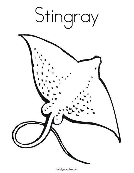 stingray coloring page twisty noodle