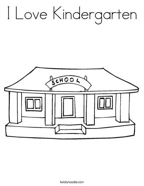 i love kindergarten coloring page twisty noodle