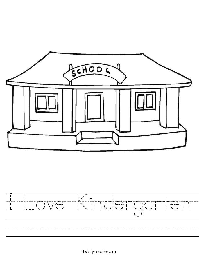 love kindergarten worksheet twisty noodle