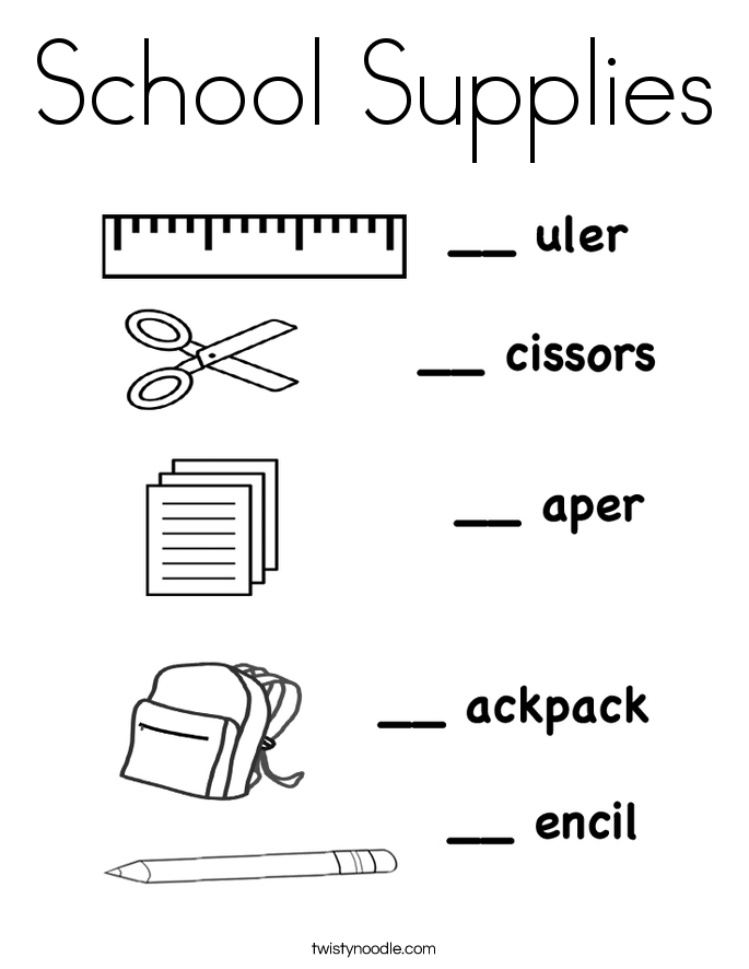 Coloring Page school supplies - free printable coloring pages | 886x685